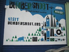 Bumbershoot billboard (strawberryluna) Tags: seattle illustration easystreetrecords bumbershoot headsofstate
