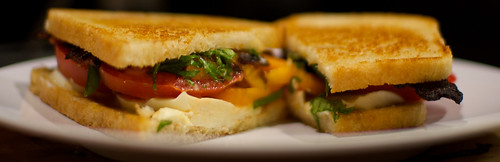 Pepper Bacon and Caprese Sandwich