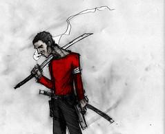 Ja (Jugo de Naranjo) Tags: pistola espada roja cigarro polera