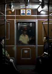 In a wagon, in the subway. North Korea (Eric Lafforgue) Tags: pictures travel train subway wagon photo war asia metro picture korea kimjongil asie coree journalist journalists northkorea pyongyang  dprk  coreadelnorte juche kimilsung nordkorea lafforgue    ericlafforgue   coredunord 0180 coreadelnord  northcorea coreedunord rdpc  insidenorthkorea  rpdc   demokratischevolksrepublik coriadonorte  kimjongun coreiadonorte
