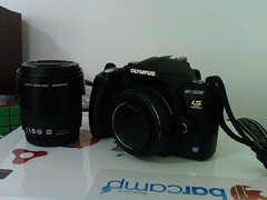 Olympus E-520 with Lens Pancake