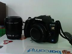 Olympus E-520 with Lens Pancake