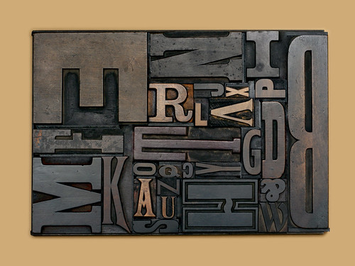 wood type alphabet on Flickr