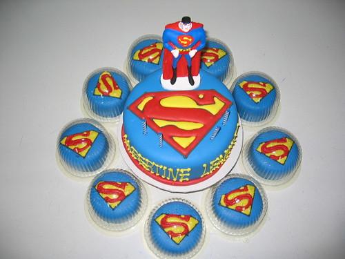 superman fondant