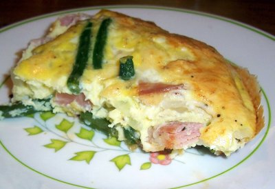 Green Bean, Ham and Fontina Frittata