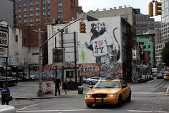 """hand painted outdoor advertising"" courtesy of banksy (Luna Park) Tags: nyc streetart ny newyork rat mural manhattan banksy lunapark openstudio paintbynumbers ilovenewyork colossalmedia"