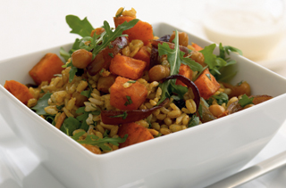 healthy brown-rice-barley-salad