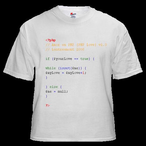 Camiseta geek en php