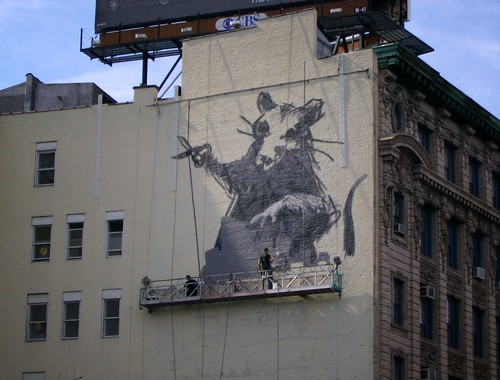 Banksy Rat Work in Progress
