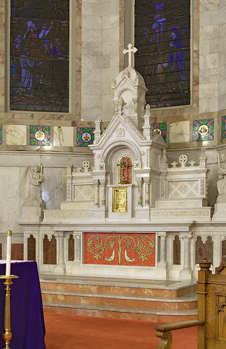 Saint Mary Roman Catholic Church, in Carlyle, Illinois, USA - old high altar