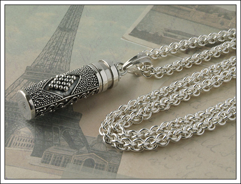 Jens Pind chain with Bali silver Prayer Box