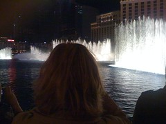 Joy watching the Bellagio fountains.