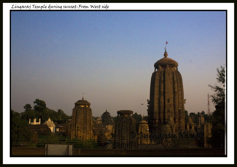 Lingaraj Temple during sunset from West
