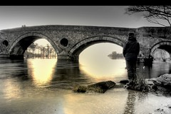 Flowing gently........ (Nicolas Valentin) Tags: old bridge man reflection water river scotland scenery rivertay perthshire tay clean clear kenmore supershot flickrsbest nicolasvalentin anawesomeshot rnbtay thechallengefactory whatareyou90