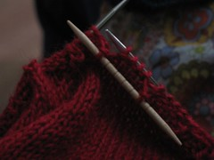 Smock stitch in progress
