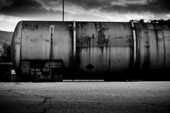 Tank Wagon (mgratzer) Tags: blackandwhite bw black station contrast train lowlight bahnhof trainstation schwarzweiss weiss schwarz klagenfurt weis schwarzweis showonmysite