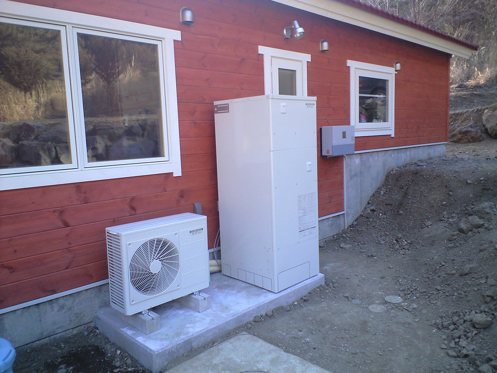 Solar electric heating and hot water system