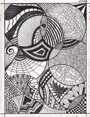 2008 Daily Art 12 (Rorichan) Tags: 2008 dailyart zentangle zendala