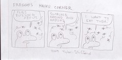 froggo's haiku (casio_beatnik) Tags: comic haiku frog flies