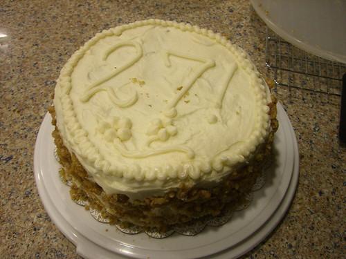 Happy birfday to me - carrot cake