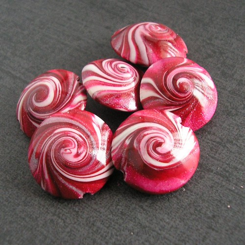 Valentines Red Swirls
