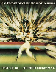 Baltimore Orioles World Series Program, 1966
