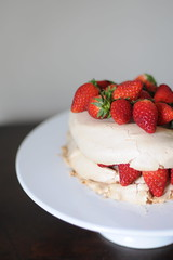 Creamless Strawberry Pavlova