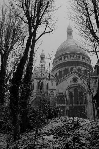 Montmartre sous la neige, Paris, France