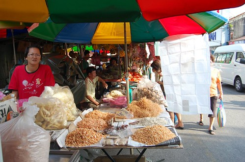 dried seafoods stall