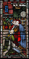Paul's ordination (Lawrence OP) Tags: windows london church glass stpaul stained missionary kensington apostle stmaryabbots actsoftheapostles