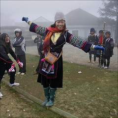 Hmong New Year  Games (NaPix -- (Time out)) Tags: new portrait woman buffalo year front bamboo ox vietnam celebration explore page lunar sapa hmong firstquality napix jawnshanochagoodheartnewyearinhmong balancebamboobeam theyearofthebufalloox