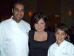 Chef Michael Mina, Jo, Sammy Mina at Michael Mina, MyLastBite.com
