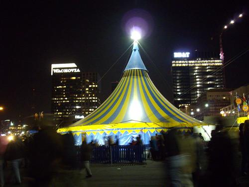 Cirque tents.
