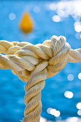 Knot Buoy (ESEA Photo) Tags: blue sea water yellow transport twist rope knot monaco elements fiber buoy sparkel esea buoyant marinescape ef28135mmf3556isusm canoneos40d edwincollingridge eseaphoto