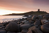 Dunstanburgh Dawn North (colesfromnewcastle) Tags: sea england tower castle coast rocks north east questfortherest dunstanburgh