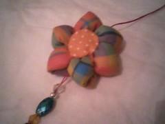Chaveiro fuxico (Minhas Crias) Tags: de flor artesanato fuxico tecido chaveiro retalho trabalhosmanuais