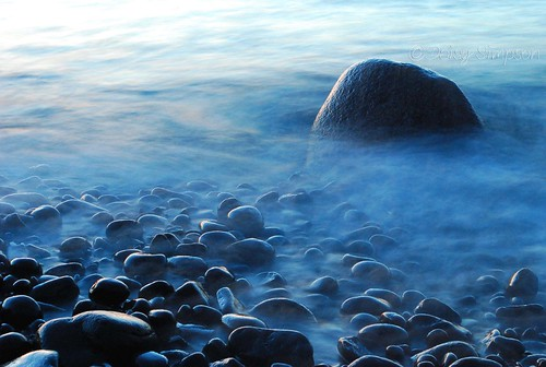 015 lake superior morning rocks