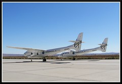 White Knight 2 (Dusty_73) Tags: california 2 two usa white america plane airplane force desert space aircraft aviation air mojave knight edwards burt base composites galactic afb rutan scaled girgin