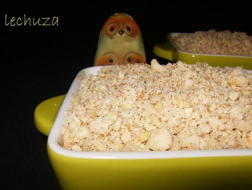 Crumble manzana-crudos