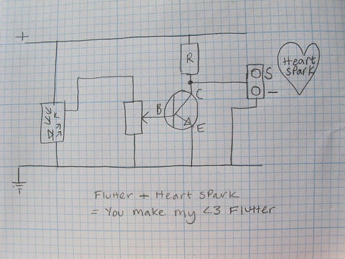 Circuit diagram for 'You make my <3 flutter'