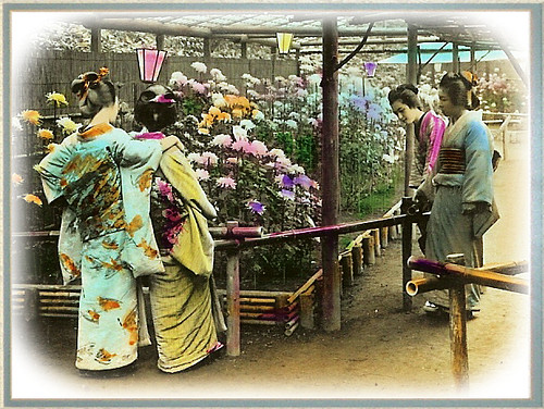 Geisha at the Flower Show - Yokohama