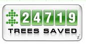 Trees Saved by PressDisplay.com Readers