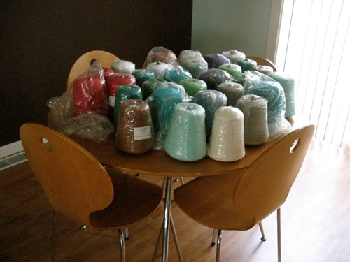 So this is what 39 pounds of yarn looks like