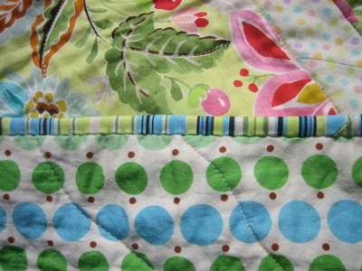 Quilt - close up of binding