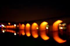 (matiya firoozfar) Tags: bridge blue red white yellow night canon persian iran persia iranian esfahan isfahan joui zayanderoud canon400d matiya matiyafiroozfar firoozfar jouibridge unfocuse
