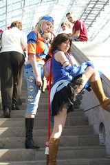Yuna + Rikku, Final Fantasy X-2 (cosplay shooter) Tags: anime comics costume comic cosplay manga leipzig final fantasy convention daniela cosplayer finalfantasy 2008 juliane rollenspiel buchmesse bookfair rikku roleplay yuna lbm x2 shizuku leipzigerbuchmesse satoshikun kairiheartless 10000z id033235 x201301 id006556