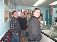 Getting some treats at Ojai Ice Cream. (01/19/2008)