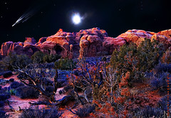 Arches Moonrise (JamesWatkins) Tags: travel vacation usa moon art digital utah poetry poem unitedstates unitedstatesofamerica digitalart creative surreal arches nighttime highdesert writers moab moonlight nightshots poems archesnationalpark nationalparks photoart moonscape poets nightscapes digitalphotography nighthawks moonshine nightowls creativewriting tacomaartmuseum moabutah creativewriters utahnationalparks desertscapes d80 desertart nightart mywinners jameswatkins platinumphoto desertatnight poemsandpictures theunforgettablepictures picturesandpoems colourartaward flickrlovers poemsandpoets poetsandpoetry poetsandpoems poetryandpoets