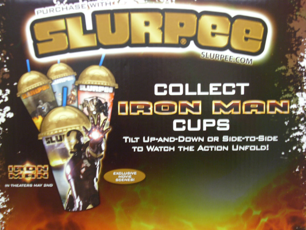 Iron Man 7-Eleven Slurpee Display A