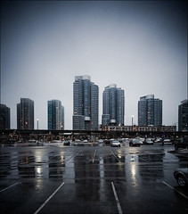 rain and towers (wvs) Tags: street urban toronto ontario canada rain night towers wide highrise gardiner residential ddoi